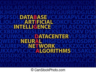Big data, the concept of inscriptions. The image of the...