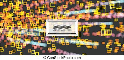 Big data visualization. Abstract  background with dynamic effect. Science and connection concept. Vector illustration.