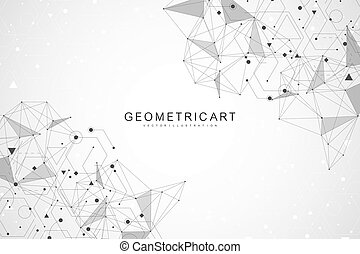 Big Data Visualization Background. Modern futuristic virtual abstract background. Science network pattern, connecting lines and dots. Global network connection vector.