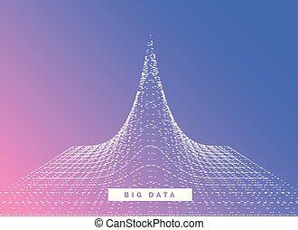 big data visualization concept design vector background