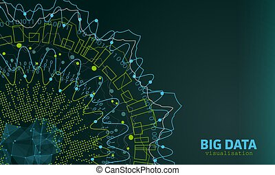 Big Data Visualization. Futuristic Infographic. Information Abstract Design