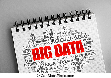 Big Data word cloud collage