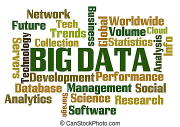 Big Data Word Cloud on White Background