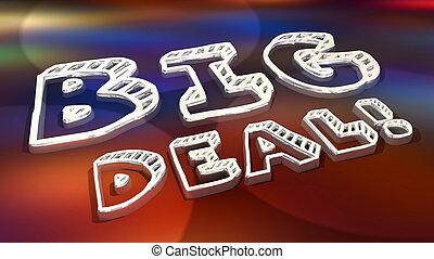 Big Deal Major News Announcement Words 3d Illustration