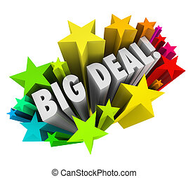 Big Deal Words Stars Fireworks Important News Sale - The...