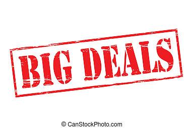 Big deals - Rubber stamp with text big deals inside, vector...