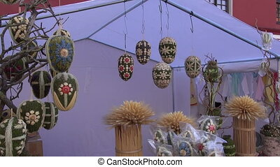 big decorative easter eggs in fair