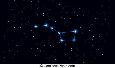 Big Dipper Constellation - Cartoon of the constellation of...