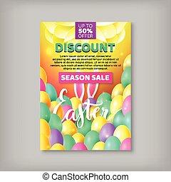 Big discount banner sale easter
