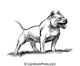 Big Dog Illustrations And Clipart 4422 Big Dog Royalty Free