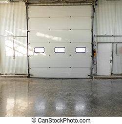 big door at the factory