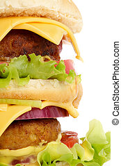 Big Double Cheeseburger closeup - Big Double Cheeseburger ...