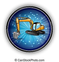 blue circle - big dozer in the blue circle