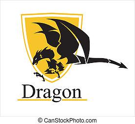 Big dragon and shield