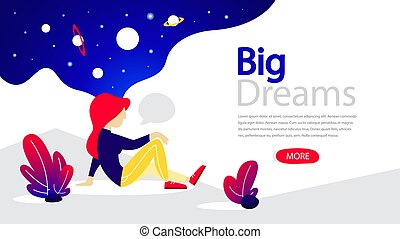Big dreams horizontal banner for your website