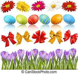 Big Easter set with traditional egg