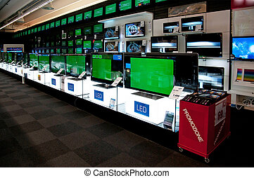 Big electronic retail store - Europe, Italy (no logos)