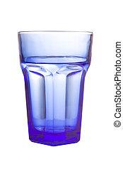 empty blue glass