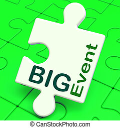 Big Event Puzzle Shows Celebration Occasion And Performance