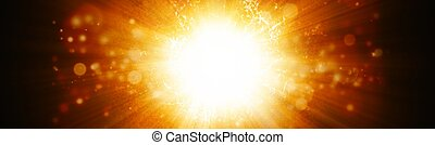 Big explosion - Abstract wide background - big explosion