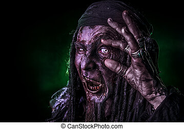 big eye - Fantasy pirate, risen from the dead. Pirate zombie...