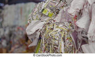Big Factory For Recycling Paper and Carboard. - Material...
