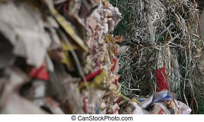 Big Factory For Recycling Paper and Carboard. - Garbage...