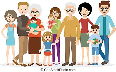big family illustrations and clipart 3 824 big family royalty free rh canstockphoto com family clipart images family clipart free