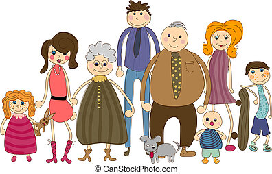 Big Family Portrait - All people are complete and grouped ...