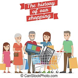 Big Family Shopping. History of our Purchases