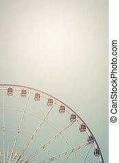 Big ferris wheel with bluesky