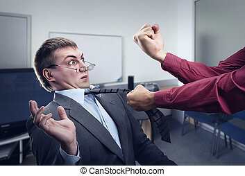 Big fight in office room