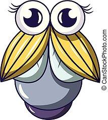 Big fly icon, cartoon style - Big fly icon. Cartoon...