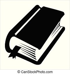 big folio - silhouette of big, vintage book