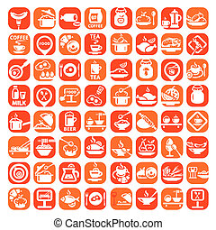 big food icon set - Elegant Food Icons Set Created For...