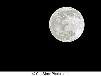 Big Full Moon on the dark