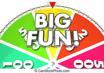 Big Fun Game Wheel Spinning Exciting Entertainment 3d Illustration