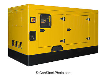 Big generator isolated on a white background