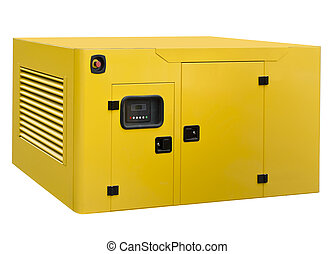 Big generator on a white background
