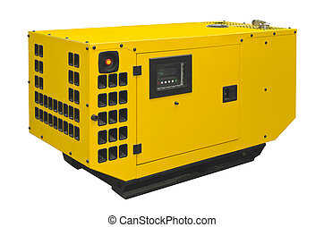 Big generator on a white background