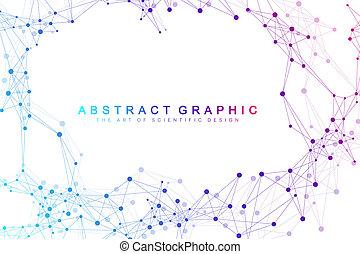 Big Genomic Data Visualization. DNA helix, DNA strand, DNA...