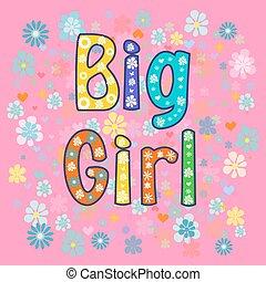 big Girl. Greeting card.
