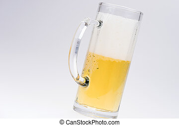 Big glass of beer isolated