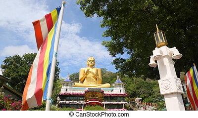 Big Golden Buddha in Sri Lanka