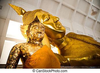 Big golden buddha statue, Thailand