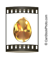 Big golden easter egg. The film strip