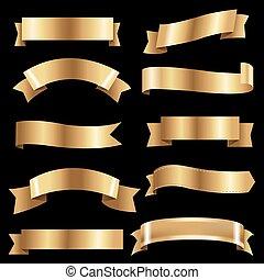 Big Golden Ribbons Set