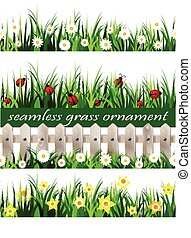 Big Green Grass seamless set
