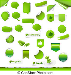 Big Green Symbols Set