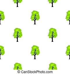 Big green tree pattern flat